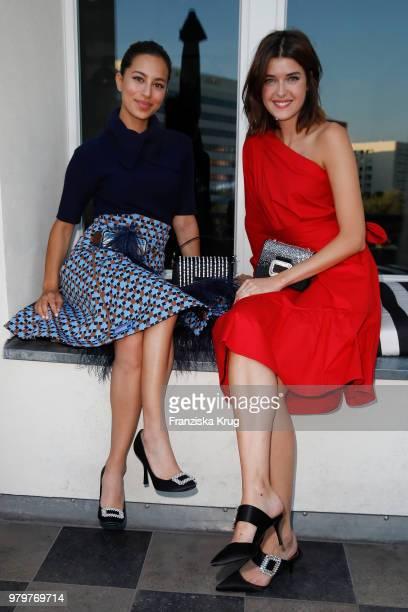 Gizem Emre and Marie Nasemann attend the 'Roger Vivier Loves Berlin' event at Soho House on June 20 2018 in Berlin Germany