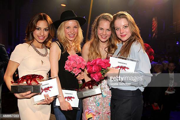 Gizem Emre, Anna Lena Klenke, Alicia von Rittberg, Jella Haase attend the New Faces Award - Film - 2014 at e-Werk on May 8, 2014 in Berlin, Germany.