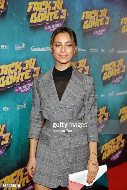 Gizem Emre attends the 'Fack ju Goehte 3' premiere at Mathaeser Filmpalast on October 22 2017 in Munich Germany
