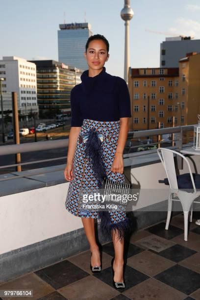 Gizem Emre attends the 'Roger Vivier Loves Berlin' event at Soho House on June 20 2018 in Berlin Germany