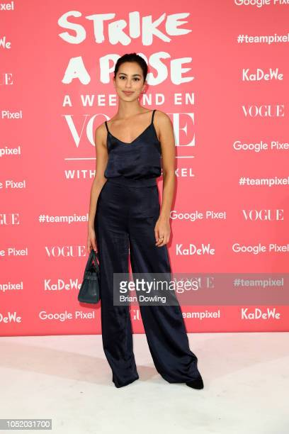 Gizem Emre attends the 'Strike A Pose Weekend En Vogue' event at KaDeWe on October 12 2018 in Berlin Germany