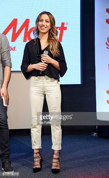 Gizem Emre during the 'Fack ju Goehte' Autograph Session on February 26 2016 in Berlin Germany