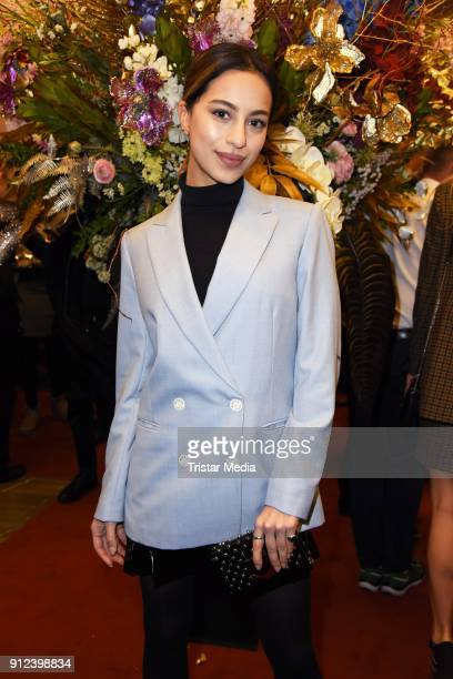 Gizem Emre during the Gianni Versace Retrospective opening event at Kronprinzenpalais on January 30 2018 in Berlin Germany The exhibition on the...