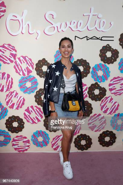 Gizem Emre during the MAC Cosmetics X Caro Daur 'Oh Sweetie' Collection Launch in Berlin at Hotel Zoo on June 4 2018 in Berlin Germany