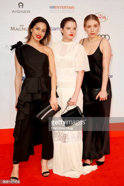 Gizem Emre Jella Haase and Anna Lena Klenke attend the German Film Ball 2018 at Hotel Bayerischer Hof on January 20 2018 in Munich Germany