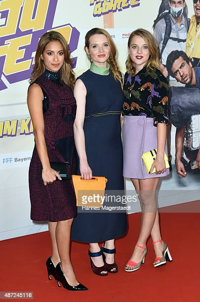 Gizem Emre Karoline Herfurth and Jella Haase attend the 'Fack ju Goehte 2' Munich Premiere at Mathaeser Filmpalast on September 7 2015 in Munich...
