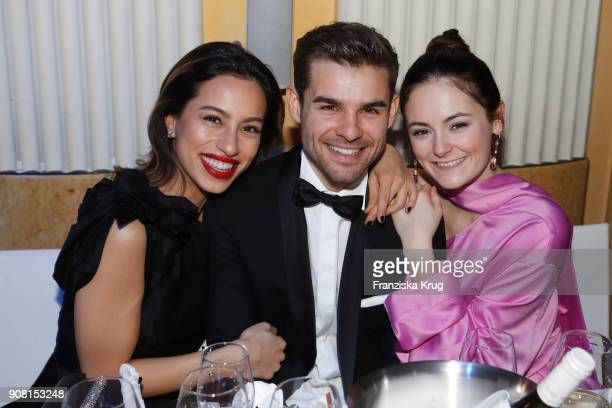 Gizem Emre Lucas Reiber and Lea van Acken during the German Film Ball 2018 at Hotel Bayerischer Hof on January 20 2018 in Munich Germany