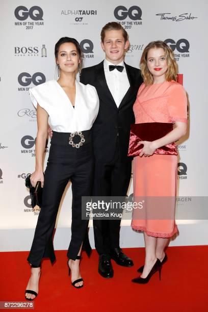 Gizem Emre Max von der Groeben and Jella Haase arrive for the GQ Men of the year Award 2017 at Komische Oper on November 9 2017 in Berlin Germany