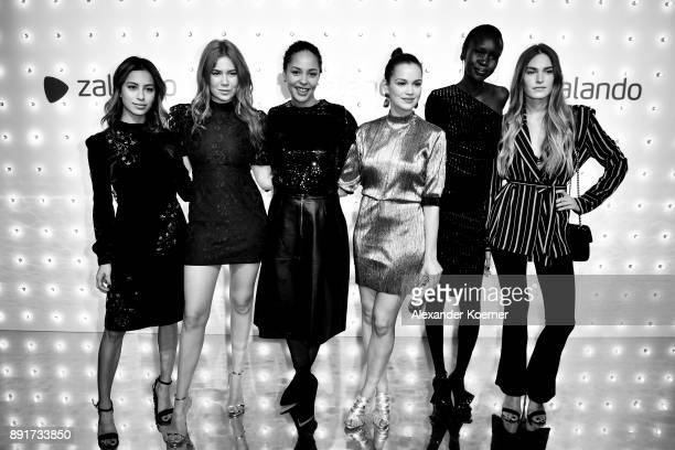 Gizem Emre Palina Rojinski Joy Denalane Emilia Schuele Alek Wek and guest attend the Zalando Xmas bash hosted by Alek Wek at Haus Ungarn on December...