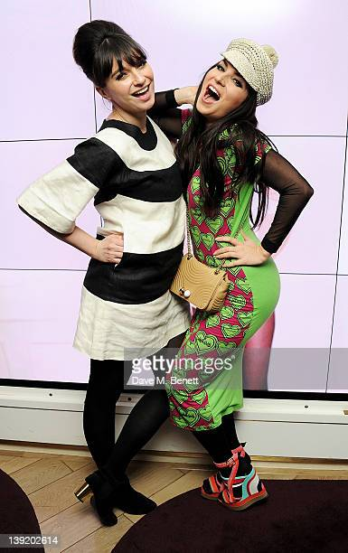 Gizzi Erskine and Grace Woodward attend the launch of 'She Died of Beauty' as part of London Fashion Week Autumn/Winter 2012 at The Club at The Ivy...
