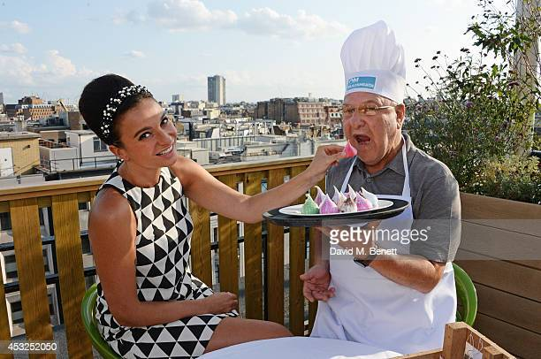 Gizzi Erskine and Harvey Goldsmith attend the summer launch party of the OnBlackheath Festival in partnership with John Lewis on the John Lewis Roof...