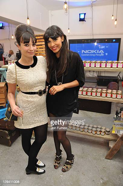 Gizzi Erskine and Jameela Jamil attend Nokia Destination E7 PopUp Store Brings Best of British to Brick Lane on May 15 2011 in London England