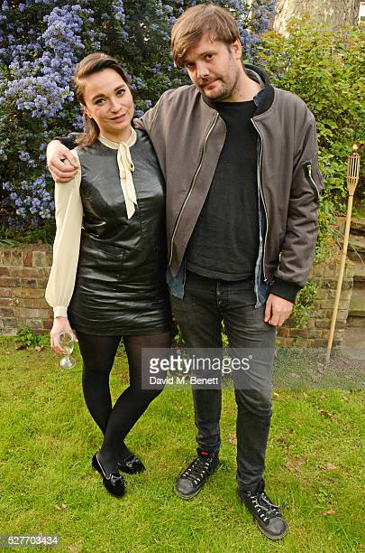 Gizzi Erskine and Jamie Reynolds attend the launch of chef Sophie Michell's new book 'Chef On A Diet' at 3 Vincent Square on May 3 2016 in London...