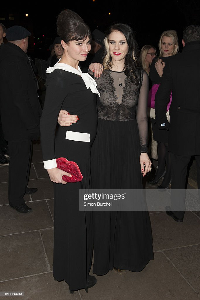 Gizzi Erskine and Kate Nash attends the Warner Music Brit awards after party at The Savoy Hotel on February 20, 2013 in London, England.