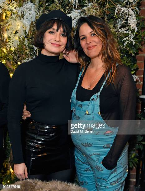 Gizzi Erskine and Lliana Bird attend the launch of The Tanqueray No TEN Table at Dalloway Terrace hosted by Gizzi Erskine on January 30 2018 in...