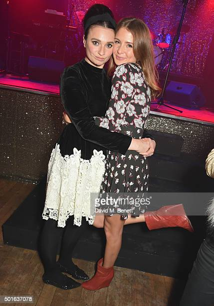 Gizzi Erskine and Millie Mackintosh attend the launch of new popup restaurant The Glam Clam on December 16 2015 in London England