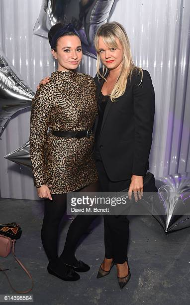 Gizzi Erskine and Sophie Michelle attend Dazed Magazine's 25th birthday party in partnership with Calvin Klein at The Store Studios on October 13...