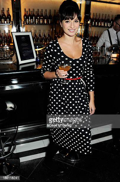 Gizzi Erskine attends a party hosted by Katherine Jenkins and Raymond Blanc to celebrate the launch of Martell Very Special Nights a series of very...