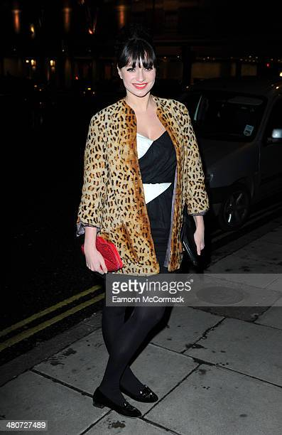 Gizzi Erskine attends a party to celebrate 25 years of Magnum at Home House on March 26 2014 in London England