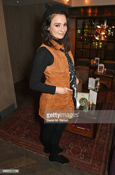 Gizzi Erskine attends a private dinner hosted by Millie Mackintosh to celebrate the launch of her AW15 collection at Pont St Restaurant in the...
