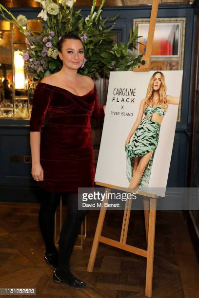 Gizzi Erskine attends a VIP dinner hosted by Caroline Flack to celebrate the launch of her second collection with River Island at The Ivy Soho...