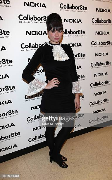 Gizzi Erskine attends the Collabor8te Connected by NOKIA Premiere at Regent Street Cinema on February 12 2013 in London England