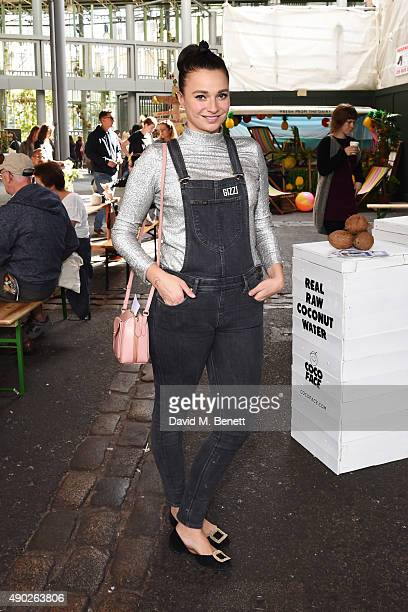 Gizzi Erskine attends the Fare Healthy festival of food fitness and wellbeing at Borough Market on September 27 2015 in London England
