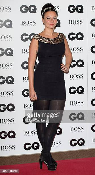 Gizzi Erskine attends the GQ Men of the Year Awards at The Royal Opera House on September 8 2015 in London England