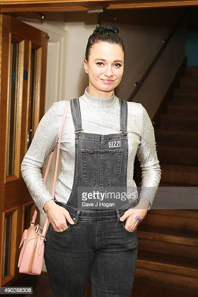 Gizzi Erskine attends the Hotel Transylvania 2 Tea Party and Gala Screening at The Soho Hotel on September 27 2015 in London England
