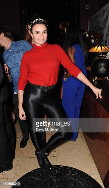 Gizzi Erskine attends the Steam And Rye launch party on November 19 2013 in London United Kingdom