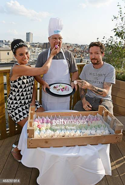 Gizzi Erskine Harvey Goldsmith and Frank Turner attend the summer launch party of the OnBlackheath Festival in partnership with John Lewis on the...