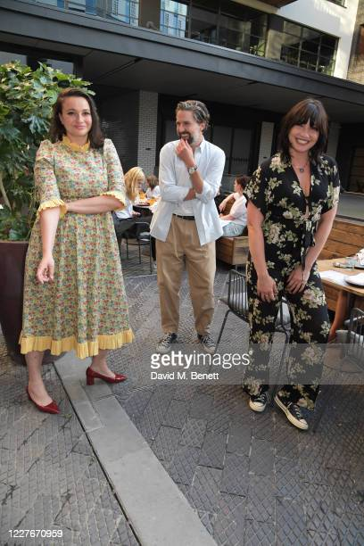 Gizzi Erskine Jack Guinness and Daisy Lowe attend the launch of Giz Green Pizza Pies PopUp at Passo on July 17 2020 in London England