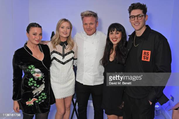Gizzi Erskine Laura Whitmore Gordon Ramsay Melissa Hemsley and Isaac Carew attend an intimate dinner hosted by Gordon Ramsay to preview his...