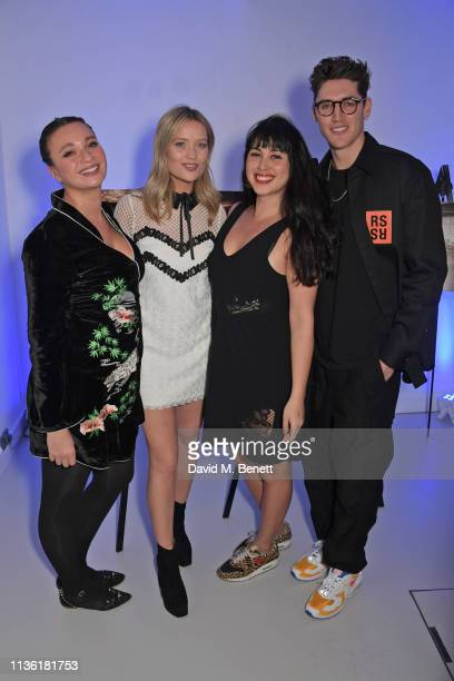 Gizzi Erskine Laura Whitmore Melissa Hemsley and Isaac Carew attend an intimate dinner hosted by Gordon Ramsay to preview his highlyanticipated new...