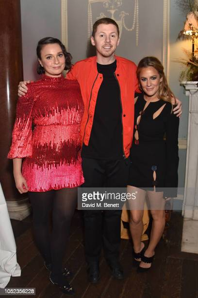 Gizzi Erskine Professor Green and Caroline Flack attend an exclusive dinner hosted by Gizzi Erskine to celebrate the launch of her new book Slow Food...