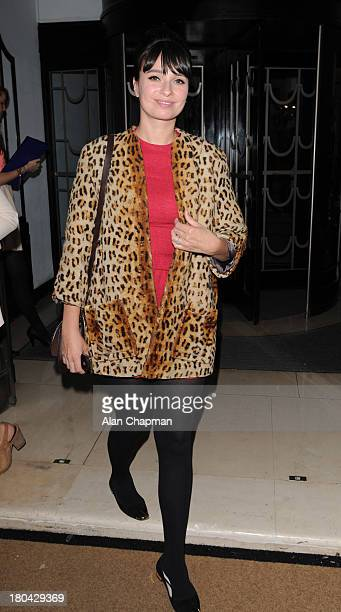 Gizzy Erskine sighting at the Fearne Cotton Fashion Show Claridges on September 12 2013 in London England