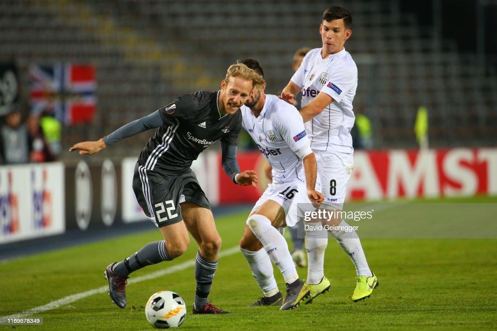 LASK v Rosenborg BK: Group D - UEFA Europa League : News Photo