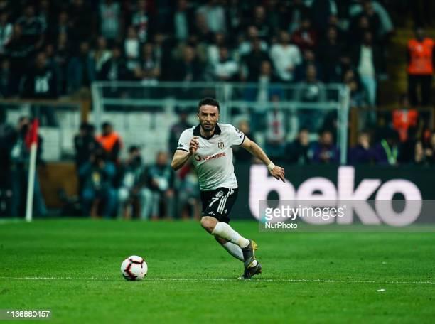 Gökhan Gönül of Besiktas during Besiktas J.K v stanbul Basaksehir, Turkish Super Lig, on April 13,2019 in Vodafone Park , Istanbul, Turkey.
