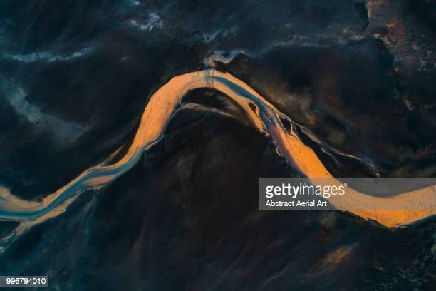 glacial flows, iceland - mineral stock pictures, royalty-free photos & images