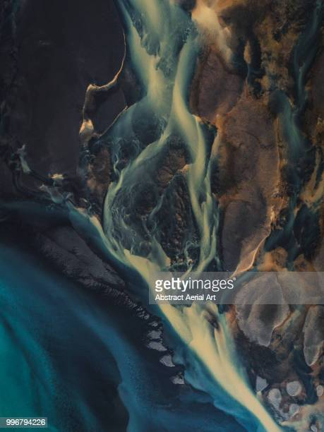 glacial flows, iceland - flowing stock pictures, royalty-free photos & images