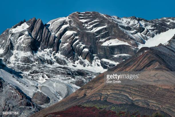 glacial formed mountains - don smith ストックフォトと画像