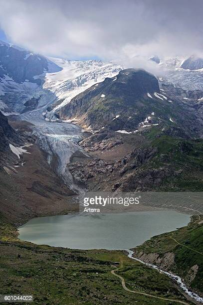 Glacial lake formed by the retreating Stein Glacier / Steingletscher in the Urner Alps, Switzerland.