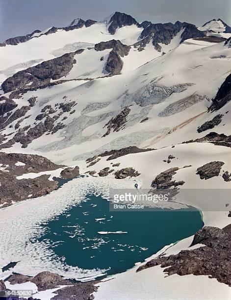 Glacial lake on Blackcomb Mountain, Whistler, Canada