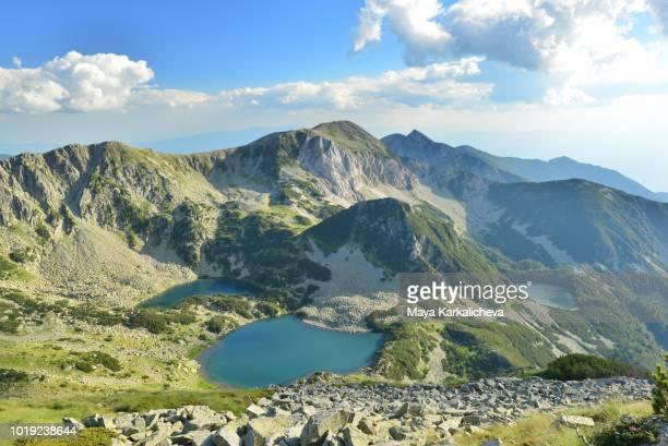 glacial lakes of pirin mountain, bulgaria - pirin mountains stock pictures, royalty-free photos & images