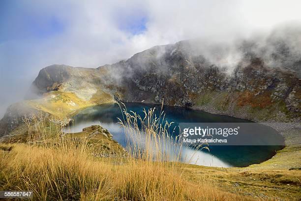 Glacial mountain lake
