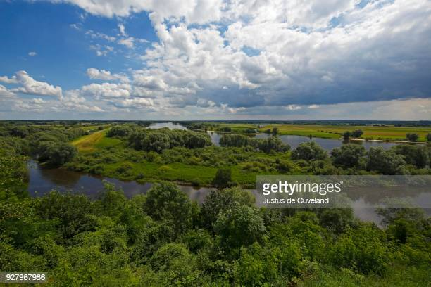 Glacial river valley of the Elbe in the UNESCO Biosphere Reserve River Landscape Elbe, in front of the confluence of the south into the Elbe, Boizenburg, Mecklenburg-Western Pomerania, Germany