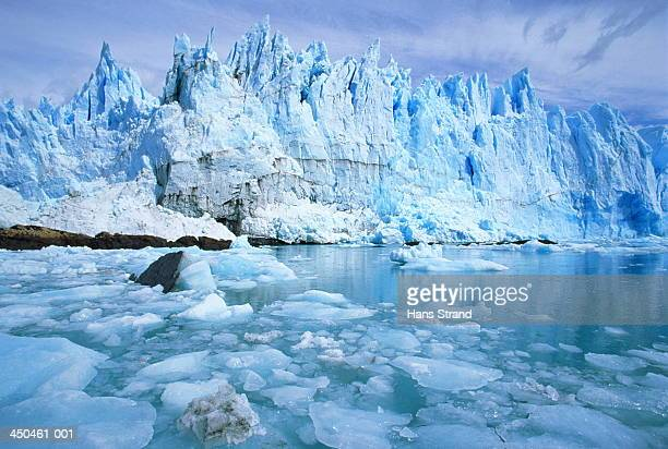 Glacial waters in fore of Perito Moreno Glacier,Patagonia,Argentina