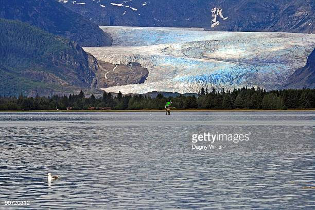 Glacier and inland waterway in Alaska