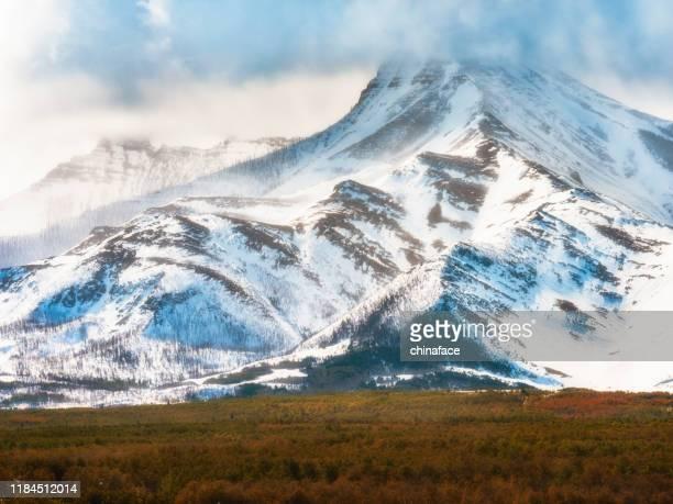 geleira e pradaria - terreno coberto de grama - fotografias e filmes do acervo