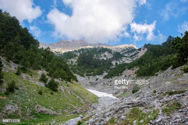 Glacier and snwofiled, Mytikas peak, Mount Olympus, Greece, Europe